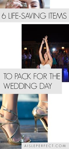 Most brides are familiar with bridal emergency kits and the standard items you should plan on having nearby on the wedding day. However, we've got a list of life-saving items to pack for the wedding day that you wouldn't think about. Bridal Emergency Kits, Wedding Gown Off Shoulder, Dream Wedding, Wedding Day, Wedding Stuff, Wedding Dress, Blue Wedding Shoes, Wedding Planning Timeline, Wedding Advice
