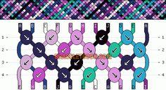 Normal Friendship Bracelet Pattern #10447 - BraceletBook.com