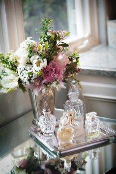 Feminine Pink & White Arrangement