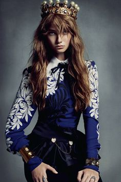 Honer Akrawi Captures and Alexandra Maria Flavia Ferrari Tikerpuu in Baroque Luxe for Grazia France