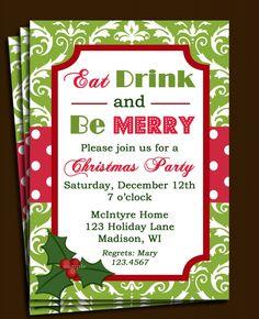 Christmas Invitation Templates!!! | Christmas Invitation Cards ...