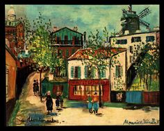 "VINTAGE LITHOGRAPH ""MONTMARTRE"" BY MAURICE UTRILLO-WINDE FINE ART PRINT #Vintage"