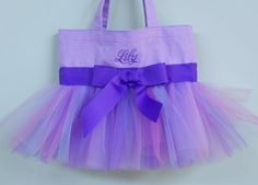 Embroidered Dance Bag Purple Tote Bag with Purple by naptime21