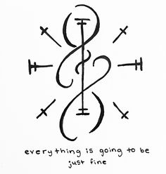 "power-of-three: "" ""Everything is going to be just fine"" sigil for anonymous Sigil requests are open ! Alphabet Symbols, Rune Symbols, Magic Symbols, Symbols And Meanings, Ancient Symbols, Viking Symbols, Egyptian Symbols, Viking Runes, Symbolic Tattoos"