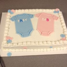 pastel baby shower cakes for twin boy and girl confectionary bliss