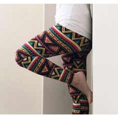 yellow/green Aztec Tribal Leggings (£9.22) ❤ liked on Polyvore featuring pants, leggings, grey, women's clothing, aztec print leggings, holiday leggings, sheer leggings, high-waisted pants and green leggings