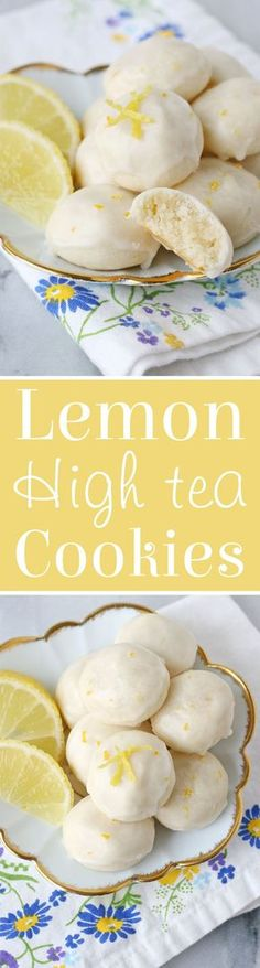 Lemon High Tea Cookies Recipe - Buttery, flavorful, melt-in-your-mouth delicious!