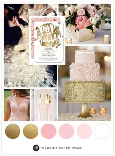 Pink wedding ideas themes pink and gold wedding theme ideas for spring wedding paper divas pink . Gold Wedding Colors, Gold Wedding Theme, Pink And Gold Wedding, Spring Wedding Colors, Blush Pink Weddings, Wedding Color Schemes, Wedding Themes, Dream Wedding, Wedding Decorations
