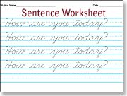 Make-your-own cursive writing practice worksheets. From single letters to memory verse for the week...you just type in what you want and it makes the worksheet.