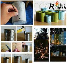 lampu hias yg cantik banget padahal cuma terbuat dari kaleng bekas,ide brilian