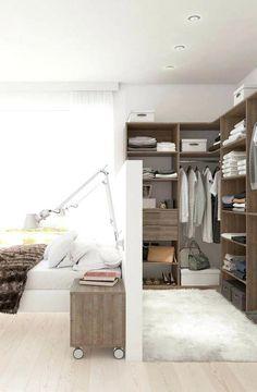 Shelf Behind Bed 3 Super Idea Of Walk Through Closet Behind Bed 3 ...