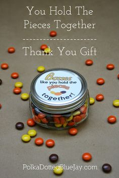 Thank you gift for bosses day - You hold the pieces together employee recognition Staff Gifts, Volunteer Gifts, Teacher Gifts, Student Teacher, Employee Appreciation Gifts, Employee Gifts, Pastor Appreciation Ideas, Employee Rewards, Volunteer Appreciation