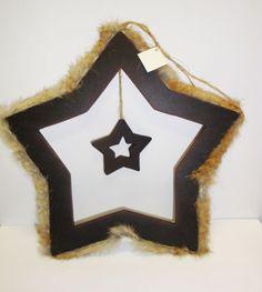 großer Stern aus Holz zum Aufhängen Deko / Weihnachten / Advent