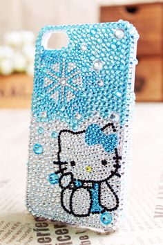 hello kitty snowflake phone case