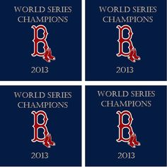 Coasters Boston Red Sox World Series Champions by DesignsByDecker, $17.00