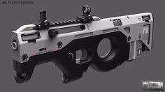 Compact Weapon Design , Edon Guraziu on ArtStation at https://artstation.com/artwork/compact-weapon-design-0fa0229d-7afa-4212-83ed-482b830b82ef