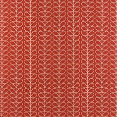 Linear Stem - Tomato fabric, from the Orla Kiely Prints Volume 1 collection by Ashley Wilde Orla Kiely, Dining Room, Fabric, Prints, Collection, Tejido, Tela, Cloths, Fabrics