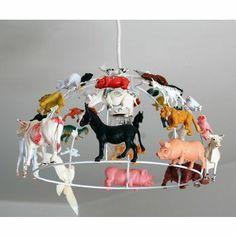 inspiration pour carcasse de plafonnier et animaux plastiques…  (via Suspension…