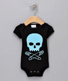 Pluto Blue Baby Skull Bodysuit