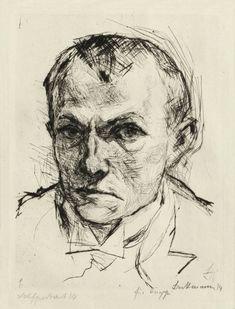 Max Beckmann: Self-portrait (1914) drypoint