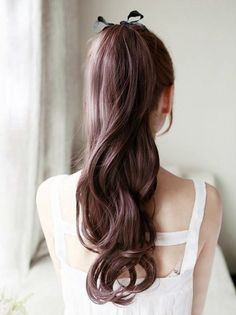 wanna give your hair a new look ? Ponytail Hairstyles is a good choice for you. Here you will find some super sexy Ponytail Hairstyles , Find the best one for you, My Hairstyle, Pretty Hairstyles, Long Asian Hairstyles, Wedding Hairstyles, Korean Hairstyle Long, Brunette Hairstyles, Quick Hairstyles, Long Hairstyles For Girls, Hairstyles Haircuts