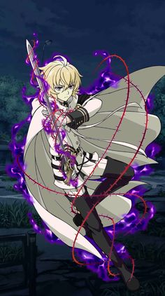 Owari no Seraph Bloody Blades - Mikaela Hyakuya