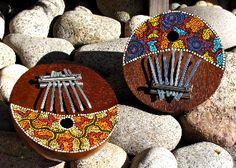 Our Karimba Instruments ($22.00) are hand-crafted. Pluck away to heavenly sounds of this beautiful, easily-tuned Karimba.  http://www.floatinglotus.net/Karimba-Instrument-Karimba-Instrument.htm