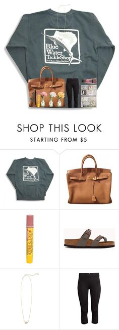 """""""I'm plum tuckered out."""" by livnewell ❤ liked on Polyvore featuring Hermès, Burt's Bees, Peony, Birkenstock, Kendra Scott, H&M and Victoria's Secret"""