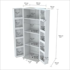 This pantry/storage cabinet has a functional modern design that is an excellent choice for your home or office break room. It features 2 doors with chrome metal handles, each with 5 interior shelves. New Kitchen Cabinets, Ikea Kitchen, Kitchen Pantry, Kitchen Layout, Kitchen Tile, Kitchen Appliances, Pantry Cabinets, Kitchen Decor, Kitchen Ideas