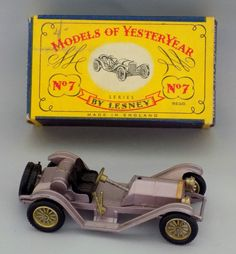 VINTAGE BOXED Y-7 MATCHBOX MODELS OF YESTERYEAR No.7 1913 MERCER RACEABOUT CAR