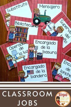 Bilingual Classroom, Bilingual Education, Classroom Language, Primary Classroom, Classroom Resources, Classroom Decor, Teacher Resources, Behavior Management Strategies, Classroom Management