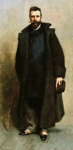 Portait of the painter William Merritt Chase 1882 by American James Carroll Beckwith 1852 - 1917