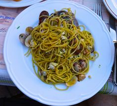 spaghetti and clams in Venice Italy http://placesiveeaten.blogspot.it/2014/08/can-you-even-get-bad-meal-in-italy.html