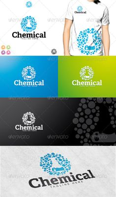 Chemical Logo  #GraphicRiver         Chemical Logo is a simple and unique logo, that shows a symbol of chemical dots or bubbles, suitable to any kind of companies and agencies.  	 Featured : – Ai CS2 document / EPS CS2 . – CMYK – 100%. – Easy to edit color / text. –