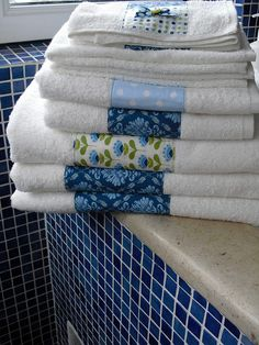 use up quilt scraps on towels