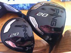Ping driver and New Golf Clubs, Helmet, Wood, Hockey Helmet, Woodwind Instrument, Timber Wood, Helmets, Trees