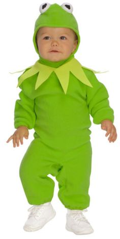 Kermit Romper Frog Prince Muppets Baby Boys Halloween Infant Costume 6M 12M | eBay