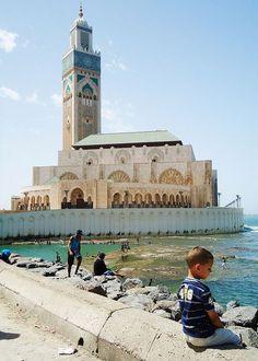 Hassan II Mosque in Casablanca, Morocco by Badr el Amri, via Flickr
