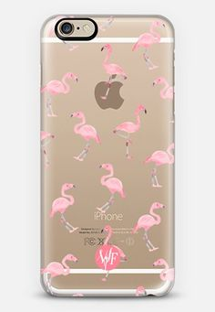 Pink Flamingos by Wonder Forest Clear Case iPhone 6 case by wonder forest | Casetify