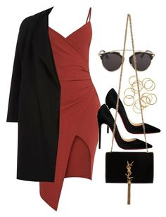 """#13813"" by vany-alvarado ❤ liked on Polyvore featuring River Island, Christian Louboutin, Christian Dior and Yves Saint Laurent"