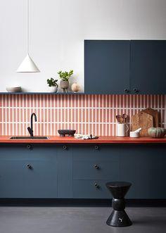 98 Wonderful Modern Kitchen Style ~ Top Home Design Kitchen Interior, New Kitchen, Kitchen Decor, Kitchen Ideas, Design Kitchen, Kitchen Trends, Kitchen Tips, Orange Kitchen, Stylish Kitchen