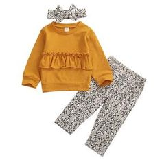 Children Newborn Set 2020 Infant Clothing Baby Girl Clothes Set T-shirt Tops+Pants Leggings Fall Autumn Outfits Stylish Baby Girls, Trendy Baby Clothes, Spring Clothes, Fall Leggings, Leggings Are Not Pants, Girls Fall Outfits, Autumn Outfits, Long Sleeve Tops, Long Sleeve Shirts