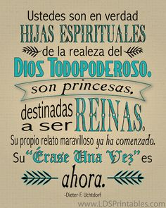 LDS Printables: Destinadas a Ser Reinas / Destined to Become Queens