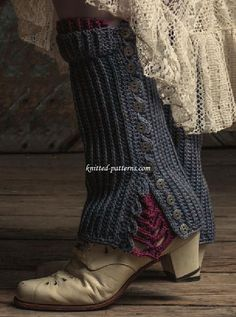 Cloudstrider Spats (ssshhh crochet!) - FREE pattern.... perhaps they could be adapted for knitting??