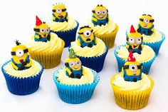 Throw a kid's party with the Despicable Me Inspired Cupcakes. Kids will be amazed and mesmerized by these awe-stricken cupcakes! Get an A+ from the kids when you try these not just delicious but cute cupcakes. Despicable Me Cupcakes, Minion Cupcakes, Kid Cupcakes, Yummy Cupcakes, Cupcake Cakes, Cup Cakes, Cupcake Art, Happy Birthday Minions, Geek Birthday