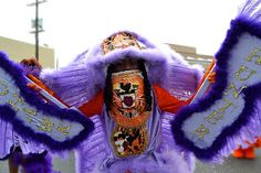 Flag Boy of the Mohawk Hunters, Mardi Gras Indians Mohawk Indians, Iroquois, Indian Tribes, Native Americans, People Around The World, Hunters, Mardi Gras, New Orleans, Carnival