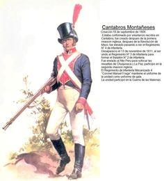Argentina. Infantería 4º Cantabros montañeses ó Batallón de Voluntarios Urbanos Cántabros Montañeses o Tercio de Cántabros Montañeses