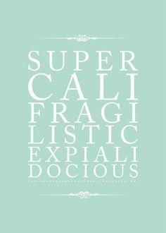Affiche Texte Mary Poppins à télécharger par RecuperetNous sur Etsy