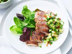 Low Carb–Rezepte - leicht und lecker, jeden Tag - schweinefilet-mit-ananassalsa  Rezept