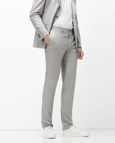 Image 2 of SOFT SHEEN TROUSERS from Zara